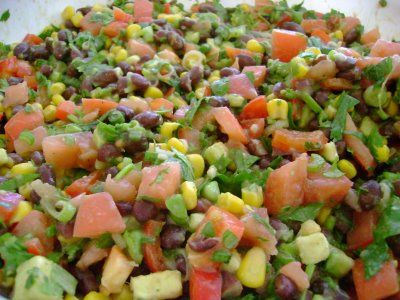 Black Bean Corn Salsa for tacos or salad. I put this on the Cilantro Lime Chicken Tacos  and it was awesome!