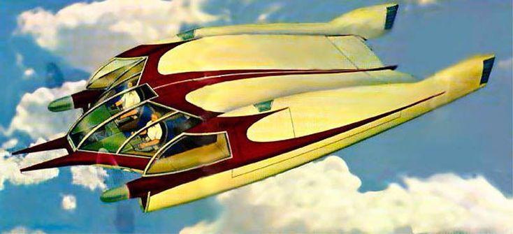 Avion sin alas de Bill Horton en 1952 paso desapercibido el Avion sin alas de Bill Horton, que realmente funcionaba y hoy en dia es construible por los aficionados al radiocontrol