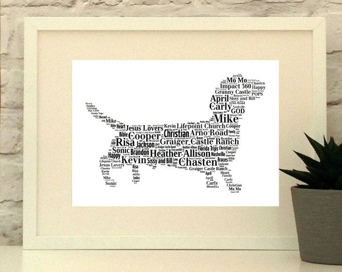 Dachshund - Sausage Dog - Personalised Print, Custom Print, Wall Art, Typographic Print - custom pet portrait