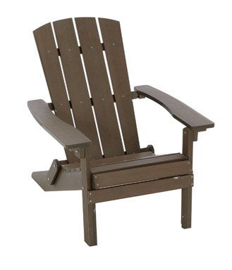 Resin Furniture : Living Accents Wood Composite Adirondack Chair