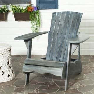 Shop for Safavieh Outdoor Living Mopani Adirondack Ash Grey Acacia Wood Chair. Get free delivery at Overstock.com - Your Online Garden
