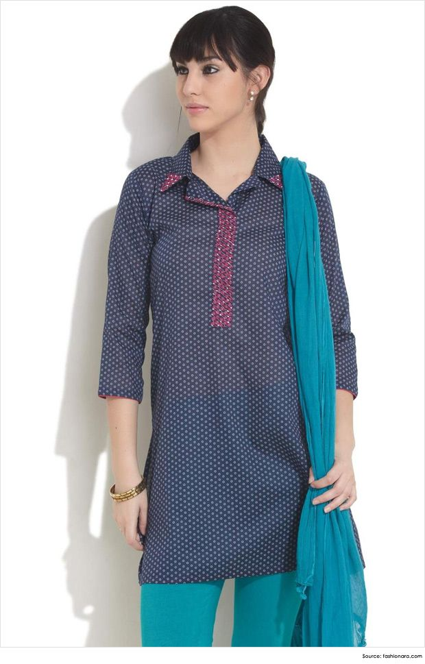 Stand Collar Kurta Designs : Fashionable collar neck designs for kurtis kurti