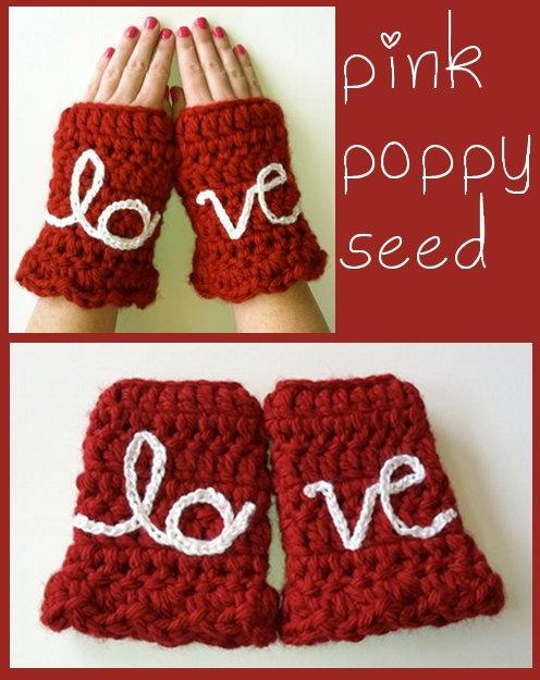 Love Crocheted Handmade Fingerless Gloves from PinkpoppyseedCrochet Ideas, Crafts Ideas, Crochet Yay, Crochet Handmade, Crochet Gloves, Crochet Wearable, Crochet Queens, Crochet Pattern, Crochet Fingerless