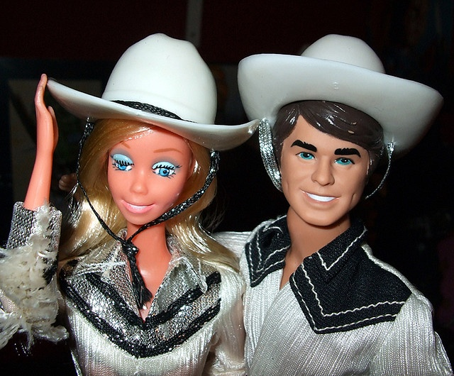 I got Western Barbie and Ken for Christmas with my Barbie Van :)