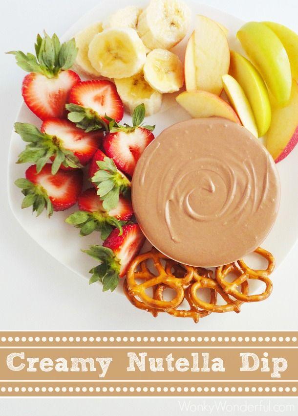 Creamy Nutella Dip Recipe ::: wonkywonderful.com