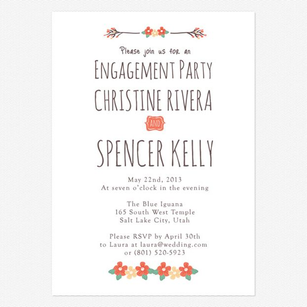 11 best Engagement invitation images on Pinterest Engagement - engagement invitation words