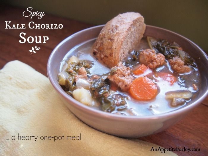 Quick & Hearty Kale Chorizo Soup (and a Non-Spicy Version for Kids)