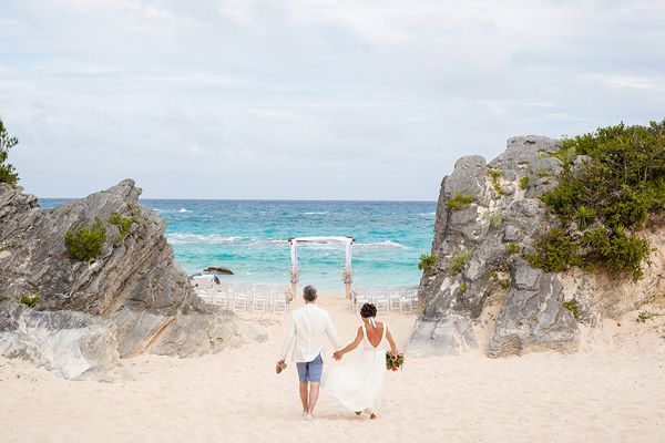 The intimate Bermuda wedding of Meagan Duhamel & Bruno Marcotte at The Reefs Resort, by destination wedding photographers Rowell Photography.