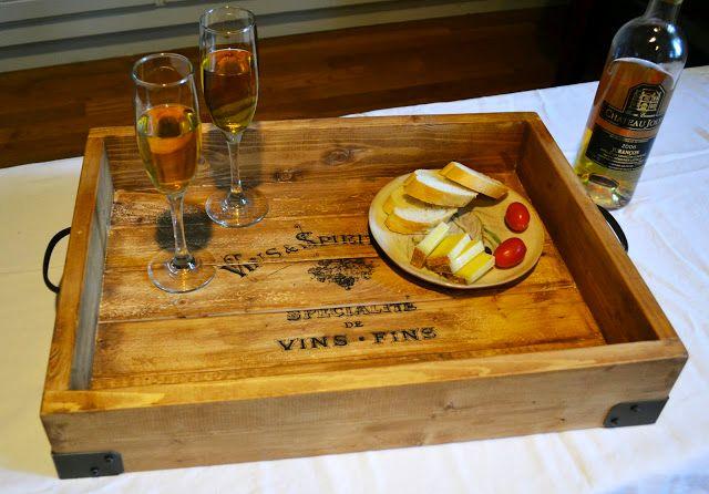 La caisse à vin : fabriquer un plateau repas