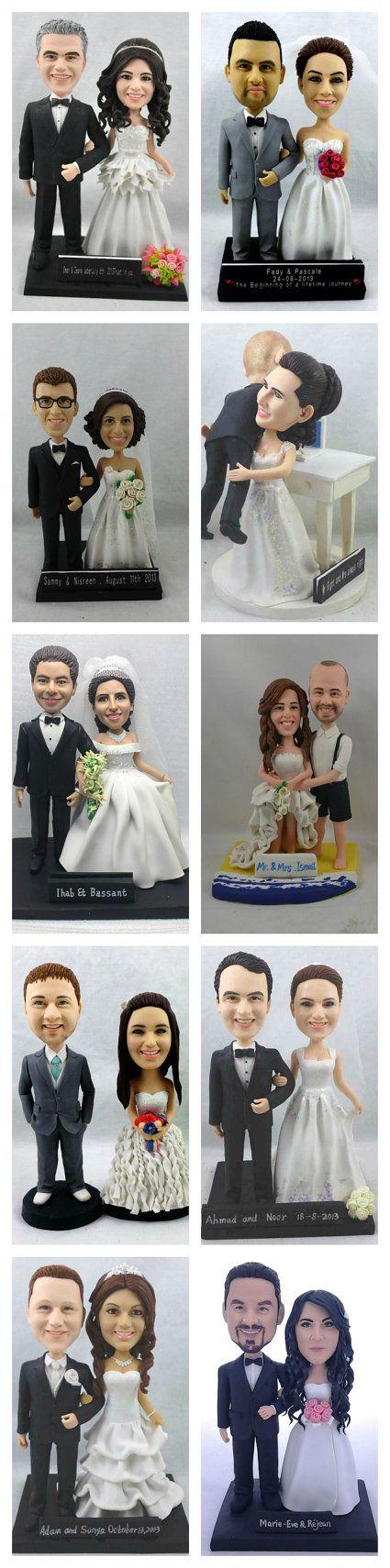 Custom Cake Topper Wedding Bobblehead wedding cake topper Custom cake toppers Bobble head cake topper wedding topper
