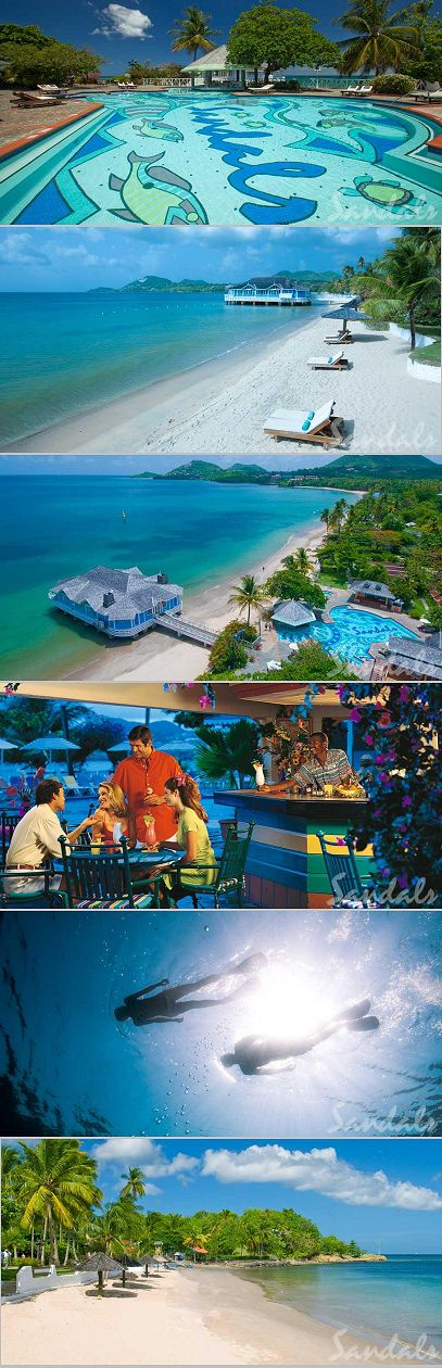 The Best Caribbean All Inclusive Resorts For Couples |Sandals Resorts Reviews in St. Lucia: Halcyon Beach