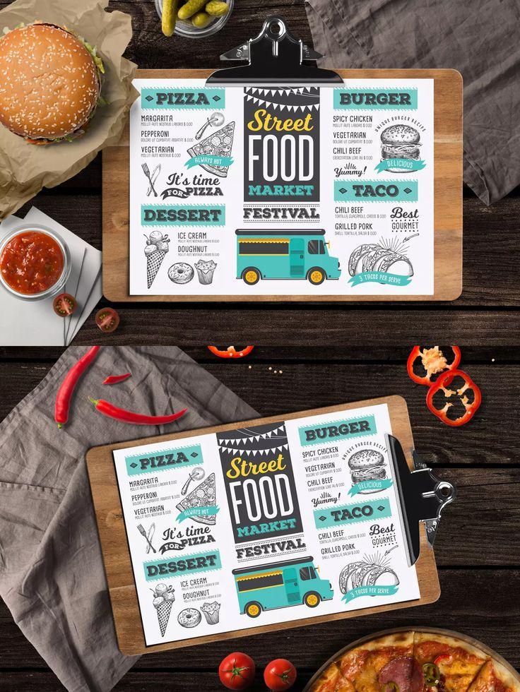 70 best Food Menu Templates images on Pinterest Food menu - food menu template
