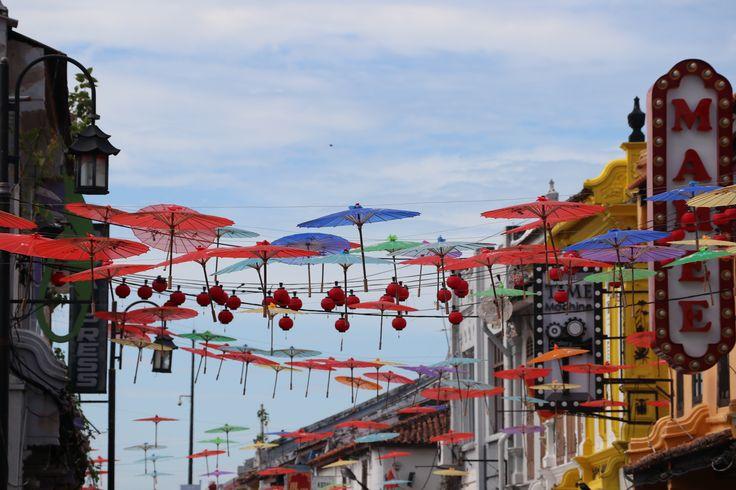 Hanging colour in Jonker Street, Malacca