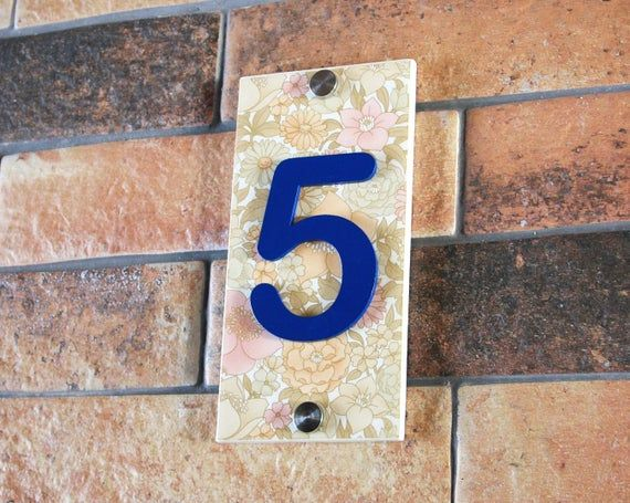 House Numbers 12 Colour Variations Address Plaque Ceramic