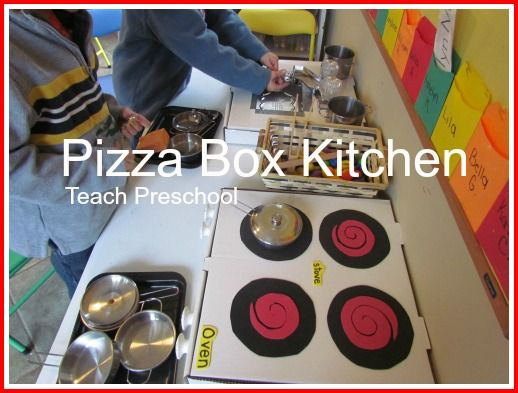 Pizza Box Kitchen by Teach Preschool