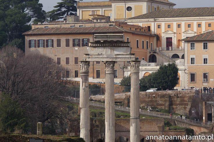Kolejnego dnia poszliśmy zobaczyć słynne Forum Romanum. Najstarszy plac miejski w Rzymie, otoczony sześcioma wzgórzami. Odbywały się tam najważniejsze uroczystości publiczne w starożytności, zrobiło na mnie niesamowite wrażenie. Wchodząc na niego mijało się miliony odłamów budowli