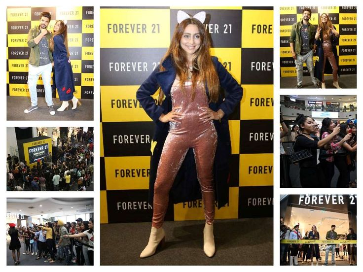 Anusha Dandekar Stills At Forever 21 Store In Amritsar Launch