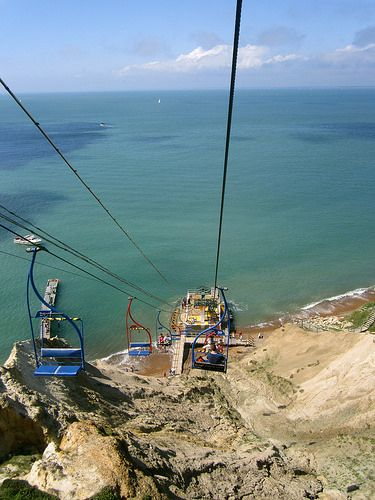 I went on this when i went. I didn't really make it very safe for myself as i was holding my camera...... I was the only one in the chair aswell!! Alum Bay xx