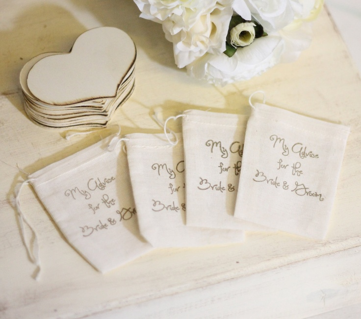 Let guests leave words of advice for the bride & groom, so memorable