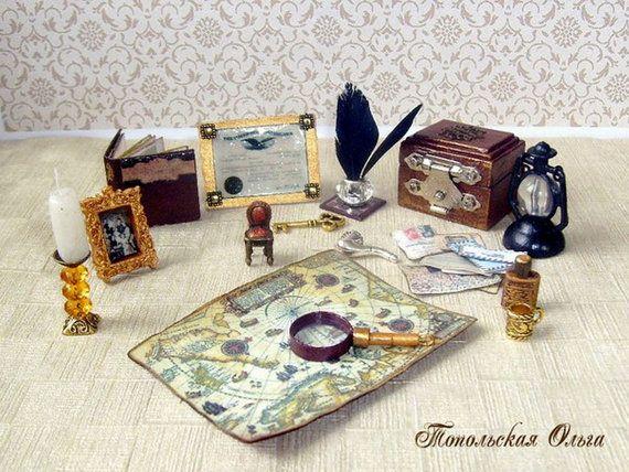 Set for the traveler. Internal decor of the от OlgaDollhouseArt