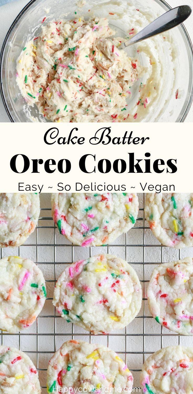 Vegan Cake Batter Oreo Cookies Recipe In 2020 Vegan Cookies Recipes Easy Cookie Recipes Vegan Cookies
