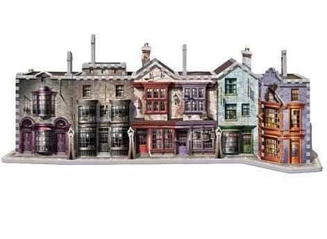 Puzzle 3D Callejon Diagon. Harry Potter 450 piezas  Diviértete construyendo este estupendo puzzle de 3D basado en la saga de Harry Potter, con el Callejón Diagon con 450 piezas.