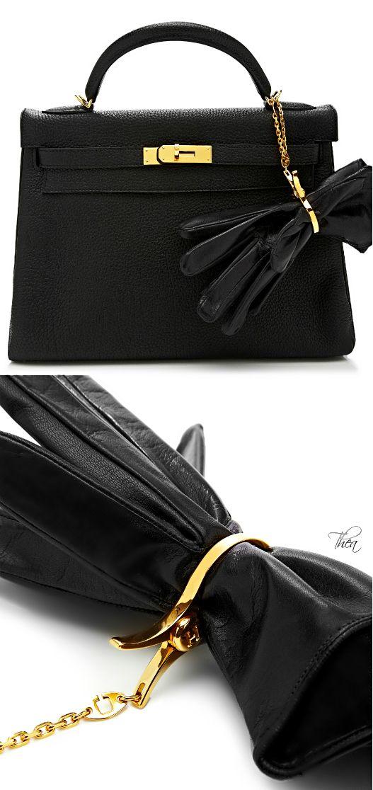 Vintage Hermes ● Gold Glove Holder Charm