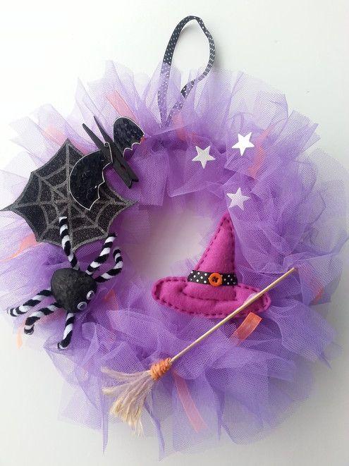 Corona para Halloween - la may handmade