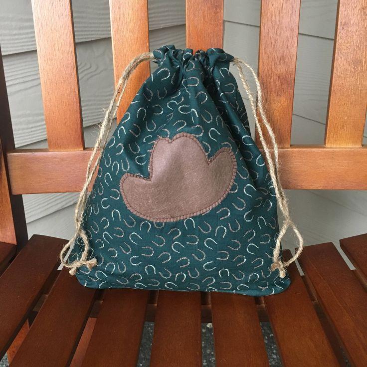 Cowboy Bag, Cowgirl, Cowboy Costume, Kids Halloween Bag, Birthday Bag, Trick-or-Treat Bag, Halloween Treat Bag, Fabric Gift Bag, Drawstring #cowboygift #cowgirl #giftgarbbags #fabricgiftbags #christmas #christmasgiftideas #giftwrapping #zerowaste #upcycling #sustainable #reusable #handmade