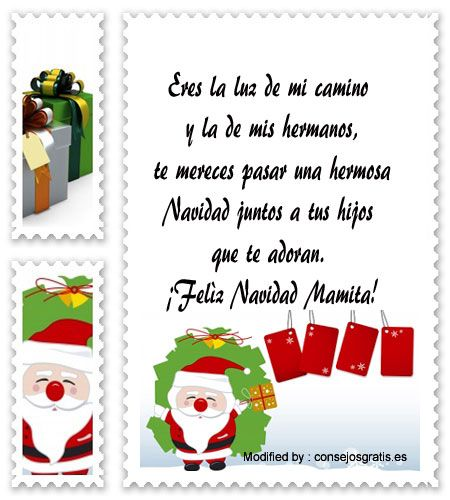 mensajes para enviar en Navidad, poemas para enviar en Navidad:  http://www.consejosgratis.es/bonitos-mensajes-de-navidad-para-mama/