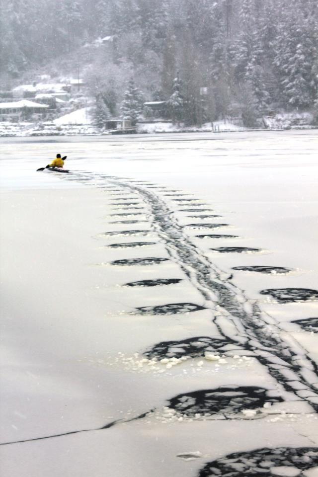 #Winter #kayaking