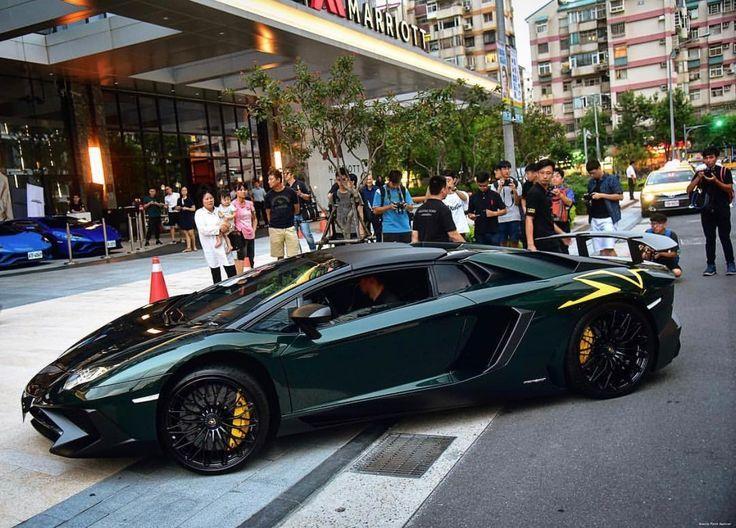 "Lamborghini Aventador Super Veloce Roadster painted in Verde Ermes w/ Giallo ""SV"" stickers Photo taken by: @she8692000 on Instagram"