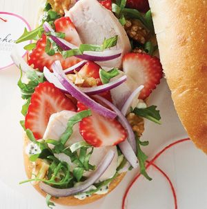 These Chicken-Strawberry Poppy Seed Sandwiches are the sandwich versions of strawberry poppy seed salads. Much more portable for a lunch on the go.