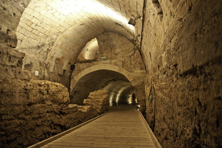 The Templers Tunnel (Akko, Acco, Acre) Israel