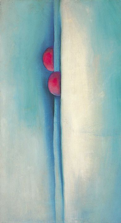 Georgia O'Keeffe, Green Lines and Pink, 1919   Oil on canvas, 18 x 10 inches.  Gift of The Burnett Foundation and The Georgia O'Keeffe Foundation (1997.05.007)   © Georgia O'Keeffe Museum