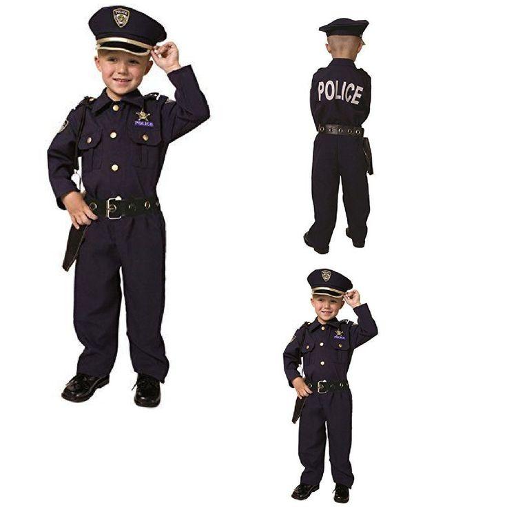 Police Dress Small 4 6 Deluxe Police Costume America New  S Boys Winning Officer #DressUpAmerica #Dress