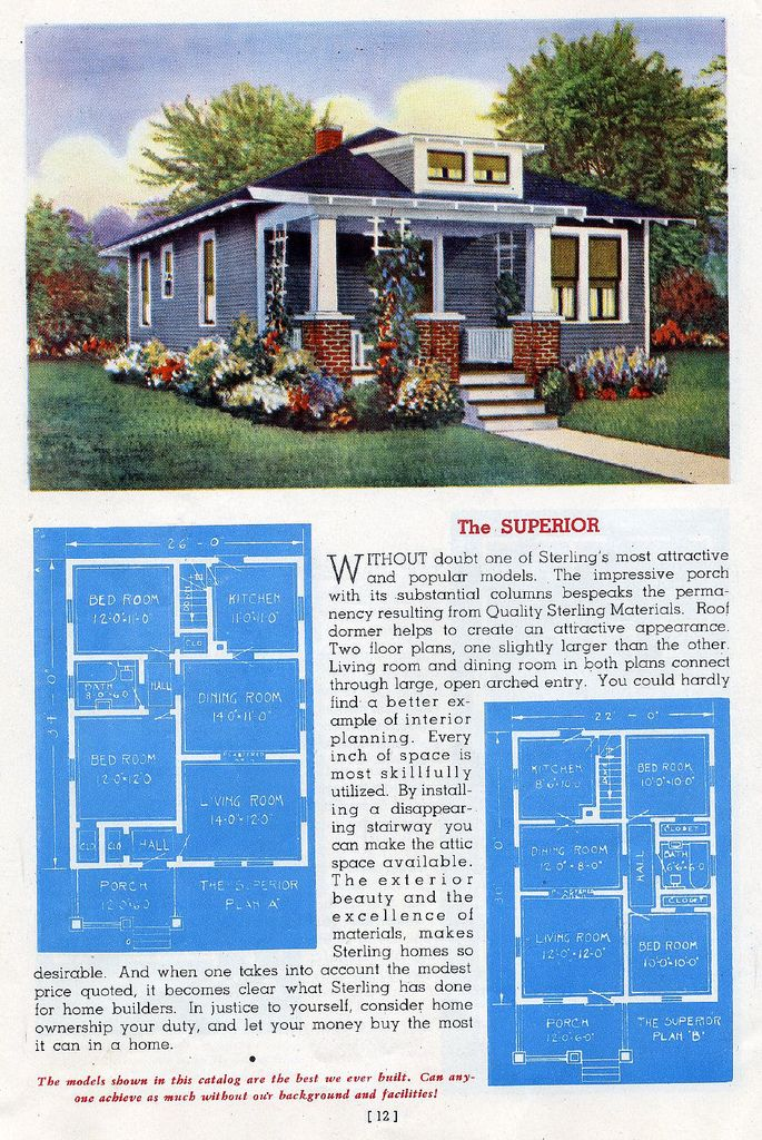The Superior   1945 Sterling House Plans