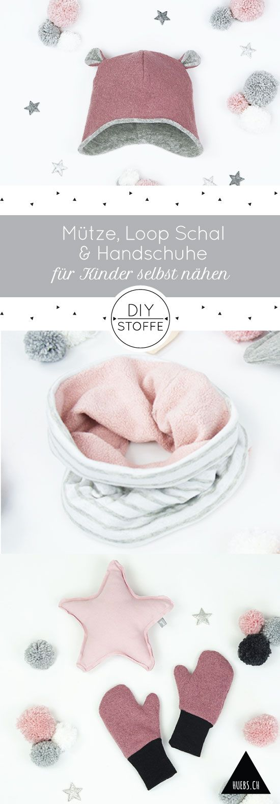 Mütze, Schal und Handschuhe selbst nähen - alles Anleitungen dafür findet Ihr bei diy-stoffe.de