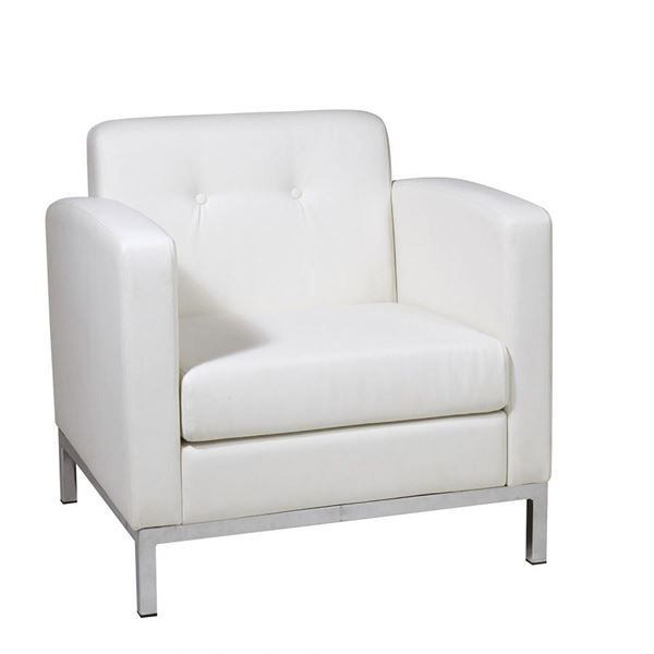 Picture Of Wallstreet White Arm Chair D Leather Armchair Armchair White Armchair