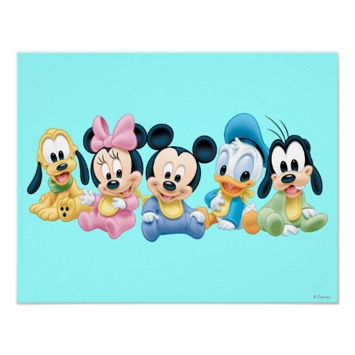 Baby Mickey Mouse and friends Posters $12.55