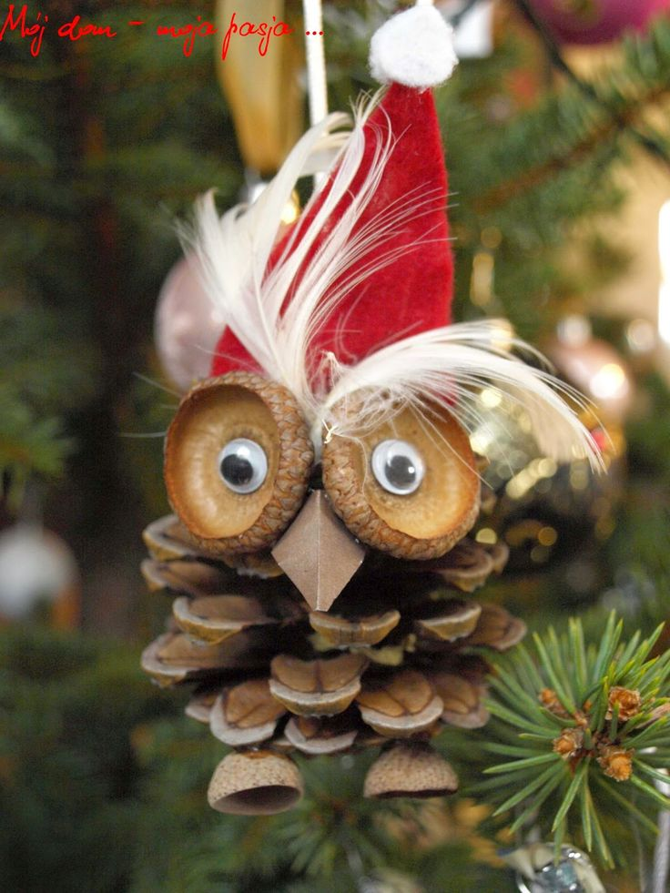 diy, christmas decor, cone , owl, home,salon