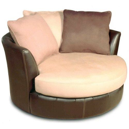 Big Round Sofa Chair | Stone Round Swivel Chair Oversized Swivel Accent  Chair By Ashley .