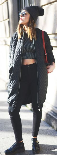 Quilted Long Bomber Jacket by The Fashion Through My Eyes