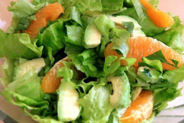 Французский зеленый салат с апельсином и авокадо | Receptur.ru - рецептура от Рецептура!