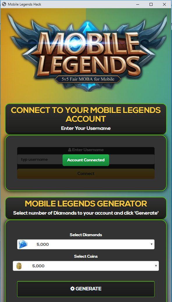 Hack Mobile Legends 2019 Download Script Diamond Mobile Legend