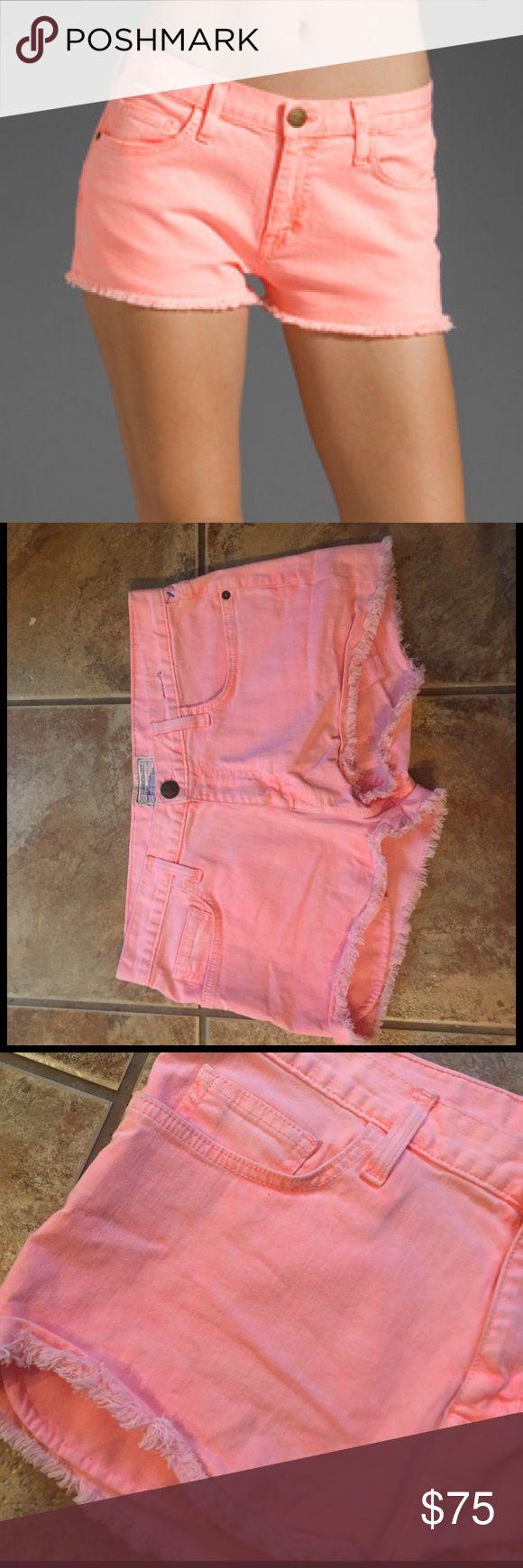 Current Elliott The Boyfriend Shorts Neon Orange Current Elliott The Boyfriend cut off Shorts Neon Orange Current/Elliott Shorts Jean Shorts
