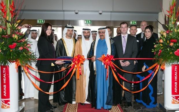 HH Sheikh Hamdan bin Rashid Al Maktoum inaugurates Arab Health 2013