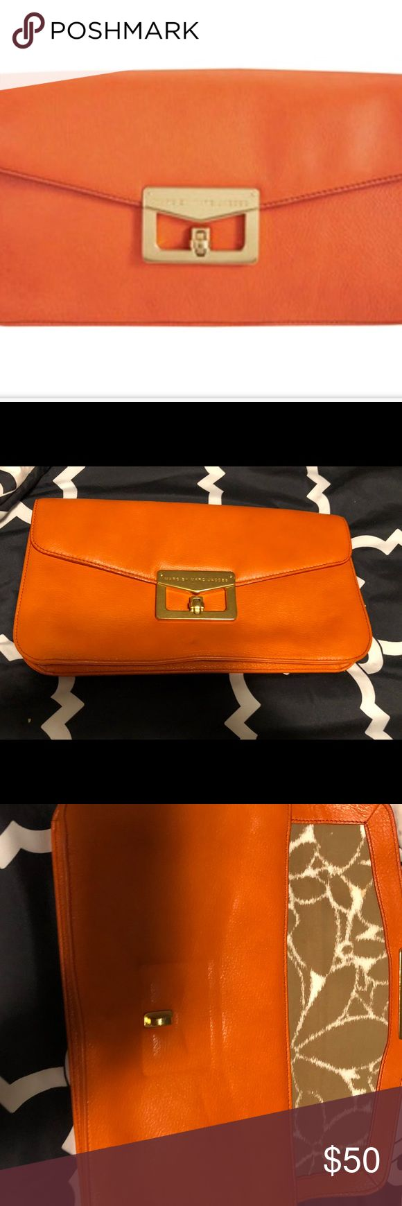 Marc Jacobs Clutch Beautiful like new orange clutch Marc Jacobs Bags Clutches & Wristlets