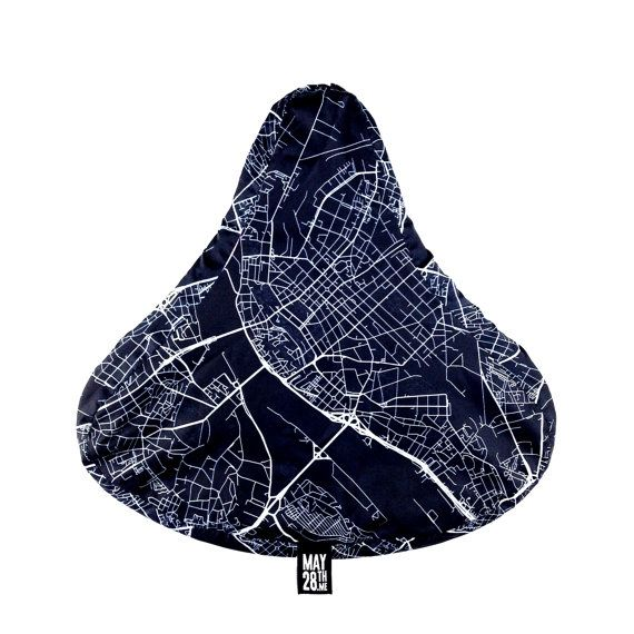 Bike Seat Cover Riga Map by May28thWatches on Etsy, $12.00