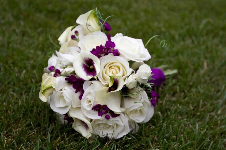 purple bouquet | Wedding | Pinterest